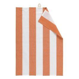 Utěrka 50x70 cm LINUM Ravioli - oranžová/bílá