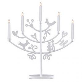 Vánoční svícen na žárovky STAR TRADING Eden - bílý