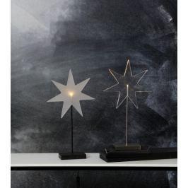 Hvězda s LED osvětlením STAR TRADING Karla Star - mléčný