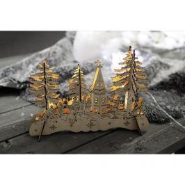 Vánoční dekorace s LED osvětlením dekorace STAR TRADING Snow Landscape