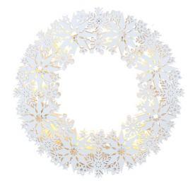 Závěsný věnec s LED osvětlením STAR TRADING Snowflake, malý