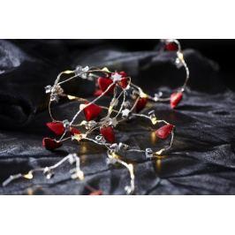 Světelný řetěz s LED osvětlneím STAR TRADING Heart & Star - srdíčka a hvězdičky