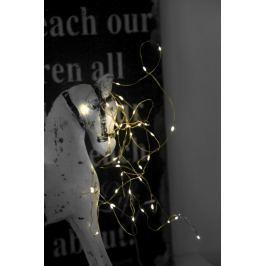 Světelný řetěz s LED osvětlením STAR TRADING Dew Drop - zlatý