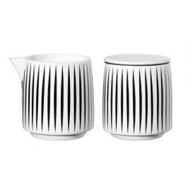Sada na mléko a cukr 7,5 cm MUGA ASA Selection - stripes