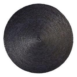 Kulaté prostírání 38 cm MAKAUA ASA Selection - pletené černé