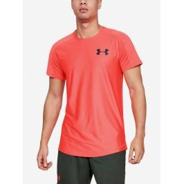 Tričko Under Armour Mk1 Ss Emboss-Red Růžová