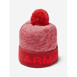 Čepice Under Armour Boy\'S Gametime Pom Beanie-Red Růžová