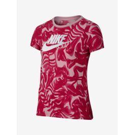 Tričko Nike Tee_Ya_Nsw_Tribld Ftura Ctgy G Fialová