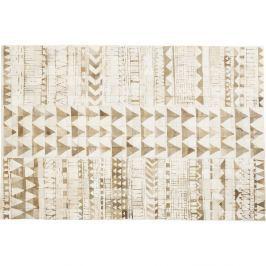Béžový koberec z pravé hovězí kůže Kare Design Hieroglyphics, 240x170cm