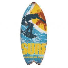 Sada 4 nástěnných kovových dekorací Geese Surfboard