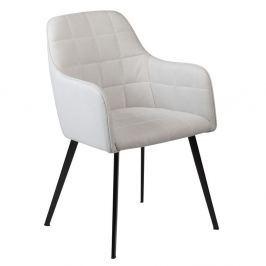 Šedá jídelní židle s područkami DAN–FORM Embrace