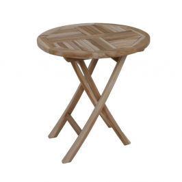 Zahradní skádací stůl z teakového dřeva ADDU Java, ⌀ 70 cm