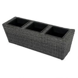 Tmavě šedý zahradní květináč ADDU Balcony Box