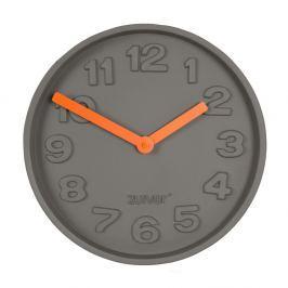 Betonové nástěnné hodiny s oranžovými ručičkami Zuiver Concrete