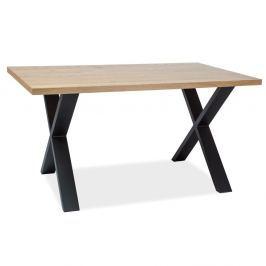Jídelní stůl s konstrukcí z černě lakované oceli Signal Xaviero, délka180cm