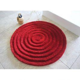 Koupelnová předložka Round Red, ⌀ 90 cm