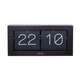 Černé překlápěcí hodiny Karlsson Flip, 37 x 17,5 cm