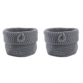 Sada 2 šedých košíků Zone Confetti, ∅13 cm