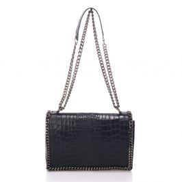 Černá kožená kabelka Lisa Minardi Cosma