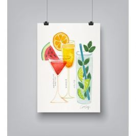Plakát Americanflat Summer Cocktails by Cat Coquillette, 30 x 42 cm