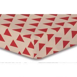 Prostěradlo z mikrovlákna DecoKing Hypnosis Triangles Cintia, 120x200cm