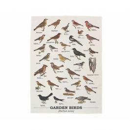 Utěrka z bavlny Gift Republic Garden Birds, 50 x 70 cm