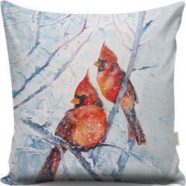 Polštář s ptáčky Winter, 43x43cm