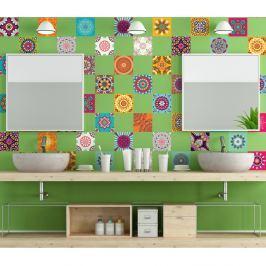 Sada 60 dekorativních samolepek na stěnu Ambiance Flow, 15 x 15 cm