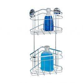 Samodržící dvoupatrová rohová polička Wenko Turbo-Loc, 15,5 x 22,5 cm