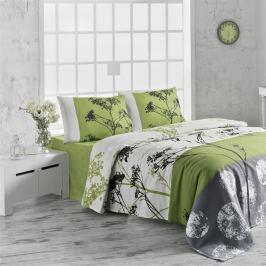Lehký bavlněný přehoz přes postel na dvoulůžko Belezza Green,200x230cm