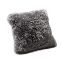 Šedý polštář z ovčí kožešiny Royal Dream Sheepskin,45x45cm