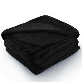 Černá deka z mikrovlákna AmeliaHome Tyler, 70 x 150 cm