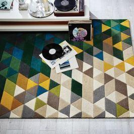 Vlněný koberec Flair Rugs Illusion Prism Green Triangles,80x150cm