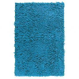 Modrá koupelnová předložka Wenko Chenille, 80x50cm