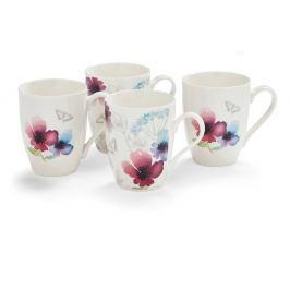Sada 4 porcelánových hrnků Cooksmart England Chatsworth Floral, 350ml