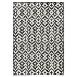 Černobílý koberec Hanse HomeDuo, 70x140cm