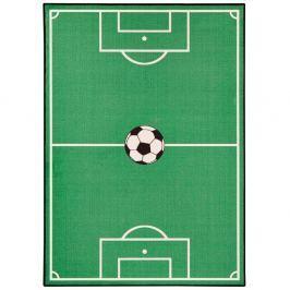 Dětský zelený koberec Zala Living Football,200x290cm