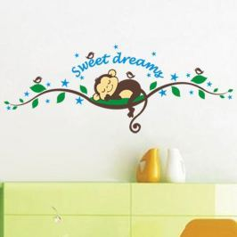 Sada samolepek Ambiance Monkeys Sweet Dreams