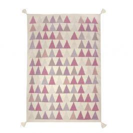 Ručně tkaný vlněný koberec s růžovými detaily Art For Kids Triangles, 140x200cm