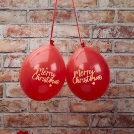 Sada 8 červených balónků Neviti Dazzling Christmas