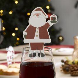 Sada 10 ozdob na skleničku Neviti Let It Snow Father Christmas