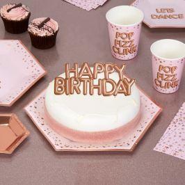 Papírová dekorace na dort Neviti Glitz & Glamour Happy Birthday