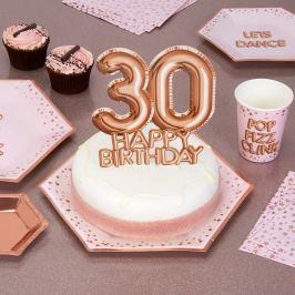 Papírová dekorace na dort s číslem 30 Neviti Glitz & Glamour