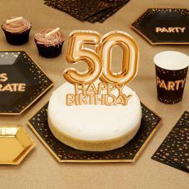 Papírová dekorace na dort s číslem 50 Neviti Topper