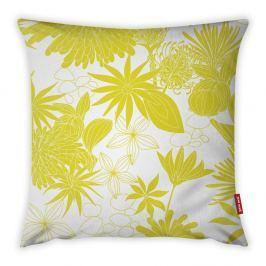Žluto-bílý povlak na polštář Vitaus Jungle Verde, 43 x 43 cm