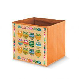 Oranžový úložný box Domopak Stamps, délka32cm