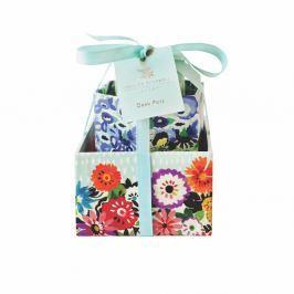 Sada 3 úložných boxů na stůl Portico Designs Bleu Floral