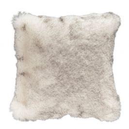 Šedohnědý polštář z umělé kožešiny Mint Rugs, 43 x 43 cm