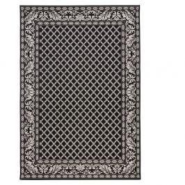 Černý koberec vhodný i na ven Bougari Royal, 115x165cm