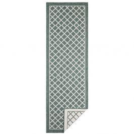 Zeleno-krémový oboustranný vysoce odolný koberec Bougari Twin Supreme, 80 x 150 cm